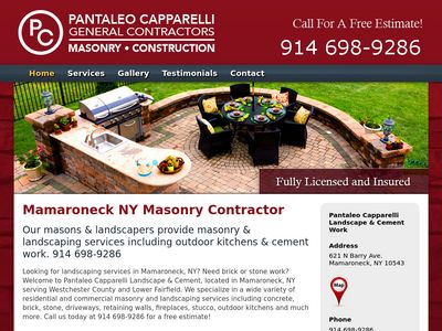 Pantaleo Capparelli Contractors Website Thumbnail