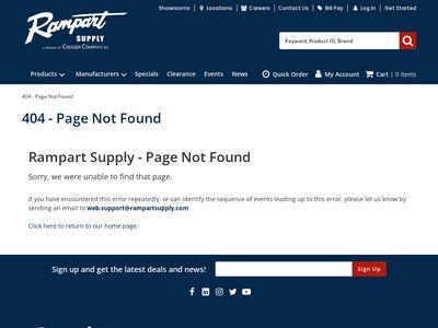 Rampart Plumbing And Heating Supply Showroom Website Image
