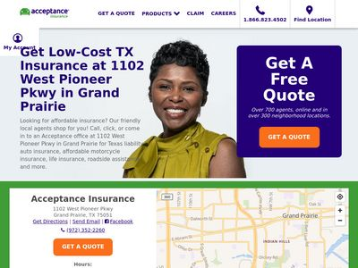 Acceptance Insurance Website Thumbnail
