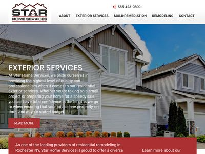 Star Home Services Website Image
