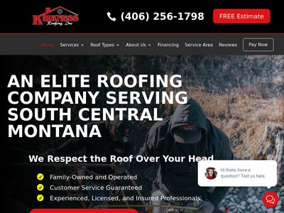 Kirkness Roofing, Inc. Website Thumbnail